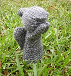 Doctor Who Mini Weeping Angel amigurumi by twimoon on Etsy. Don't blink:)