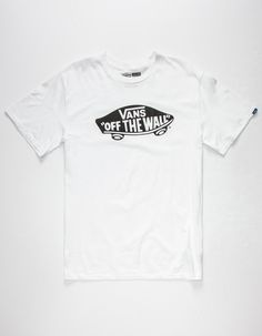 Vans OTW tee. Vans Off the Wall logo screened at chest. Short sleeves with Vans tag at left sleeve. Crew neck. 100% cotton. Machine wash. Imported.