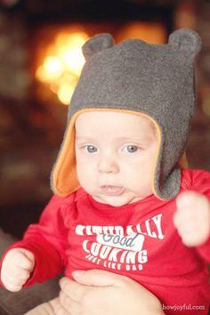 Chapeau de bébé joyeuse Avec ours en peluche oreilles - Tutorial et Modèle | Commentaire joyeux