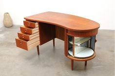 Teak Kidney Desk, Model 54, Kai Kristiansen - Feldbellas Mobelfabrik, Denmark, c. 1950s