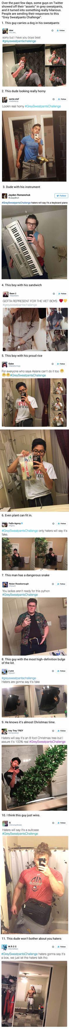 The grey sweatpants challenge