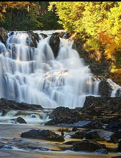 There are ever so many water falls sprinkled throughout the state of Maine. A ramble trough the woods and you are sure to come across one of one size or another.  Houston Brook #Falls, #Maine