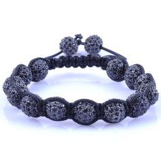 shamballa style armband zwart