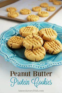 Peanut Butter Protein Cookies   gluten & dairy free