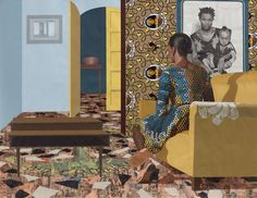 <p>Often based on intimate domestic scenes, the intricate layered work of Njideka Akunyili Crosby reflects the transcultural identity of today. Born in Nigeria, she moved to the United States at sixte