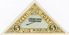Flugpostbriefmarke-Estland