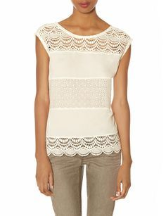 Crochet Lace Mixed Media Shell from THELIMITED.com #TheLimited #LTDPetites