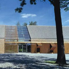 db2 Architect, Wroclaw Polland, admin building for a farm, wood slats create and light and transparent wall