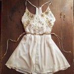 Vestidos cortos Bordados Love Pajaro primavera verano 2016 | Moda de fiestas