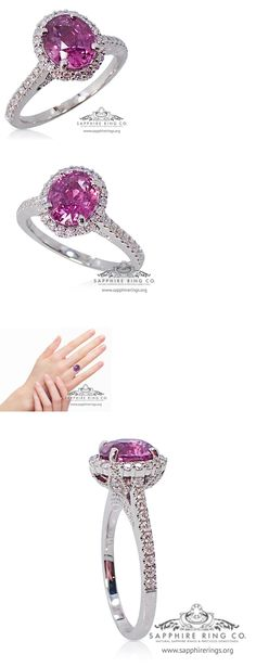 Other Engagement Rings 164308: Untreated Gia 18Kt 2.37 Tcw Pink Oval Cut Ceylon Natural Sapphire And Diamond Ring -> BUY IT NOW ONLY: $3221.25 on eBay!