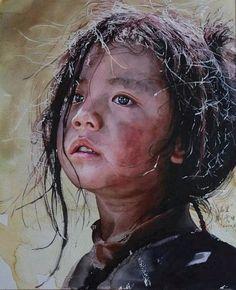 Hyper realisim in watercolor - Guan Weixing