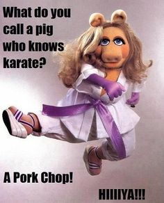 """""""A pork chop!""""  So ridiculous that it's funny."""