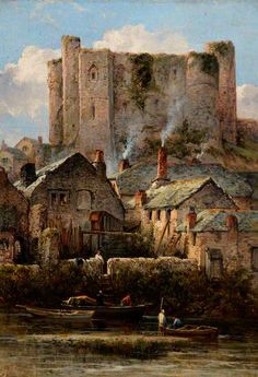 """Haverfordwest Castle, South Wales"",  by William Pitt"
