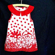 red polka dots with flowers