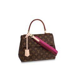 92bb12f9d165 2019 的 Louis Vuitton Monogram Canvas braided Cluny BB M43982 Crème ...