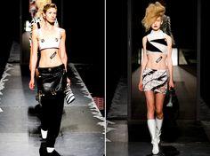 Os modelos se distinguem entre os mais justos ou ainda soltos ao corpo, sendo combinados com diferentes peças do guarda roupa que trazem desde o cós alto ao baixo.