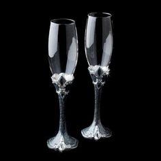 Fleur de Lis Toasting Champagne Glass Flutes Wedding Anniversary http://www.ebay.com/itm/Fleur-Lis-Toasting-Champagne-Glass-Flutes-Wedding-Anniversary-/310648498590?pt=LH_DefaultDomain_0=item485417e99e