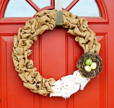 Cute Easter Burlap Wreath