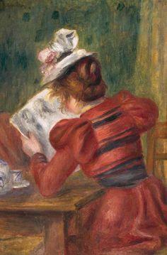 Renoir, Pierre-Auguste (b,1841)- Woman Reading, 1897