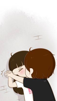 Zaara shaik a long list of love cute love cartoons, anime lo Cute Couple Drawings, Cute Couple Art, Love Drawings, Cartoon Drawings, Drawing Pictures, Cute Love Pictures, Cute Cartoon Pictures, Cute Love Gif, Love Cartoon Couple