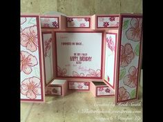Large Square Double Display card with Dawn - YouTube