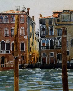 On the Grand Canal - Contre jour - Version ll original fine art by David Morris