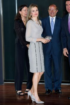 Crown Princess Letizia of Spain attends the Ceremony of the first edition of the National Fashion Awards at Reina Sofia Museum, 06.06.2014 in Madrid