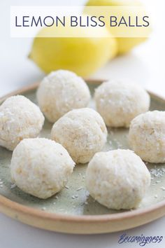 These Lemon Bliss Balls are made with only 5 ingredients and super easy to make (as most bliss balls recipes are).