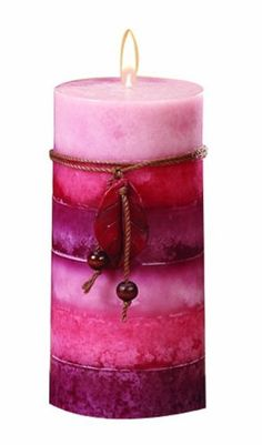 DecoGlow Rela by action Pillar Candle Pink Candles, Best Candles, Pillar Candles, Light My Candle, Candle Art, Candle Making Business, Fragrant Candles, Candle Making Supplies, Candle Accessories