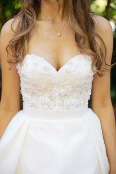 Bride in Wtoo Marlow Corset style 18495 Photography: Sonya Yruel - sonyayruel.com Read More: http://www.stylemepretty.com/california-weddings/2014/04/19/a-summer-lodge-wedding-at-dawn-ranch/