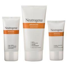 Benzoyl Peroxide AND Salicylic Acid=buh bye acne! Neutrogena Complete Acne Therapy System