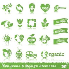 Free vector Ecology Stickers Signs