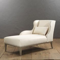 """Selma Left Arm Chaise, choose our own fabric. Overall: 37 3/4""""H X 32""""W X 62 1/2""""D in front of window in living room"""