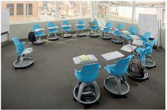 Simulation de la flexibilité d'une salle avec le siège modulable Steelcase © Steelcase