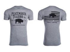 """The Peacemaker Buffalo"" Tee - Black Font"