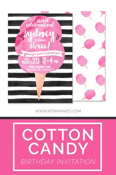Free Printable candy Birthday Invitations Add it to your favorites