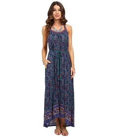 Lucky Brand Circle Embroidered Dress Multi - 6pm.com