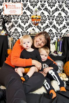 Gram and her babies. Halloween Minis with Emily Beatty Imagery in Kitchener, Ontario. emilybeatty.com   #KitchenerPhotographer #funphotography #Halloween2013 #spooky