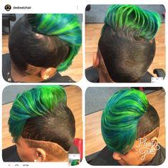 Cute Short Haircuts, Cute Hairstyles For Short Hair, Creative Hairstyles, Black Girls Hairstyles, Vivid Hair Color, Cool Hair Color, Funky Short Hair, Creative Hair Color, Quick Weave Hairstyles
