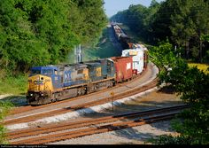 csx train in waycross, ga | ... CSX Transportation (CSXT) GE C40-8W (Dash 8-40CW) at Folkston, Georgia