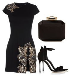 """Sem título #4280"" by beatrizvilar ❤ liked on Polyvore featuring Dsquared2, Sergio Rossi and Alexander McQueen"