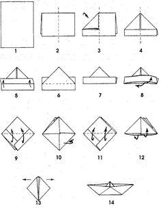 1000 id es sur le th me bateaux en papier sur pinterest bateau en origami origami et - Bateau en papier pliage ...
