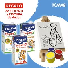 ¿Quieres llevarte un lienzo y pintura de dedos para tus hijos? Hasta el 30 de marzo, consigue tu regalo por la compra de 6 unidades de Puleva Peques!