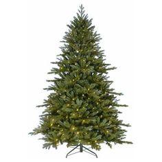 Kurt S. Adler 7 ft. Pre-Lit LED PE Artificial Christmas Tree-TR2420LED - The Home Depot