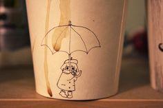 Coffee cup art on Behance