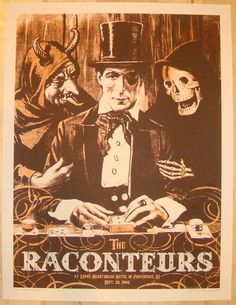 the raconteurs gig posters | concert poster by rob jones the raconteurs silkscreen concert poster ...