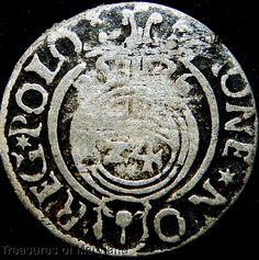 POLAND 1626 Silver 3 POLKER 1/24 Thaler sku #BG1 17th Century, Poland, Medieval, Coins, Personalized Items, Silver, Ebay, Rooms, Mid Century