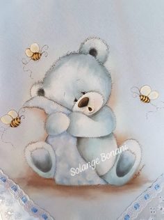 Fabric Painting, Decoupage, Diy And Crafts, Teddy Bear, Cartoon, Quilts, Country, Animals, Cloth Diapers