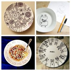 ★Draw, doodle, or write on a plate, then bake it at 150 degrees for 30 minutes to make it permanent!★