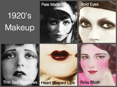 During 1920 women started wearing bold makeup with dark eyes and pouty lips. They used to use more of creams and powders on face to give it a pale look.